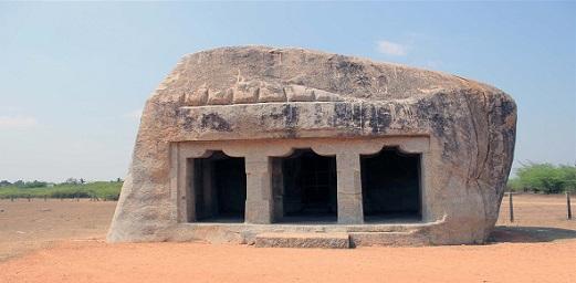 Rock-cut Vishnu temple